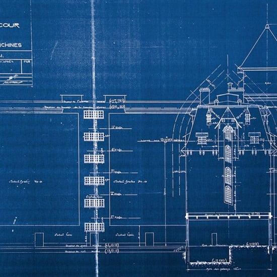 Plan de construction des Frigos ©Les Frigos