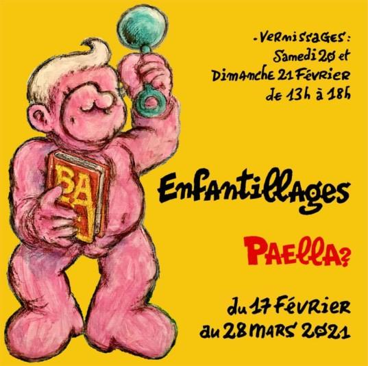 Flyer exposition Paella Enfantillages 2021